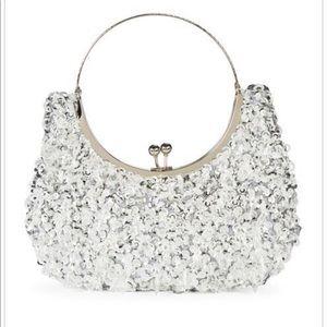 Handbags - Crystals Ring Handle Clutch